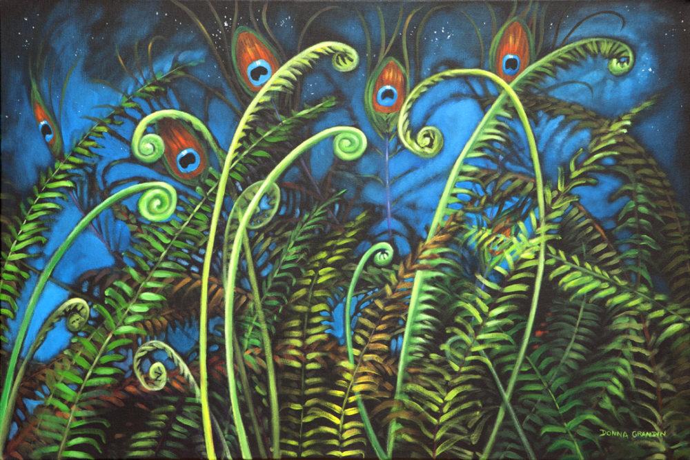 Peacock Garden - Donna Grandin