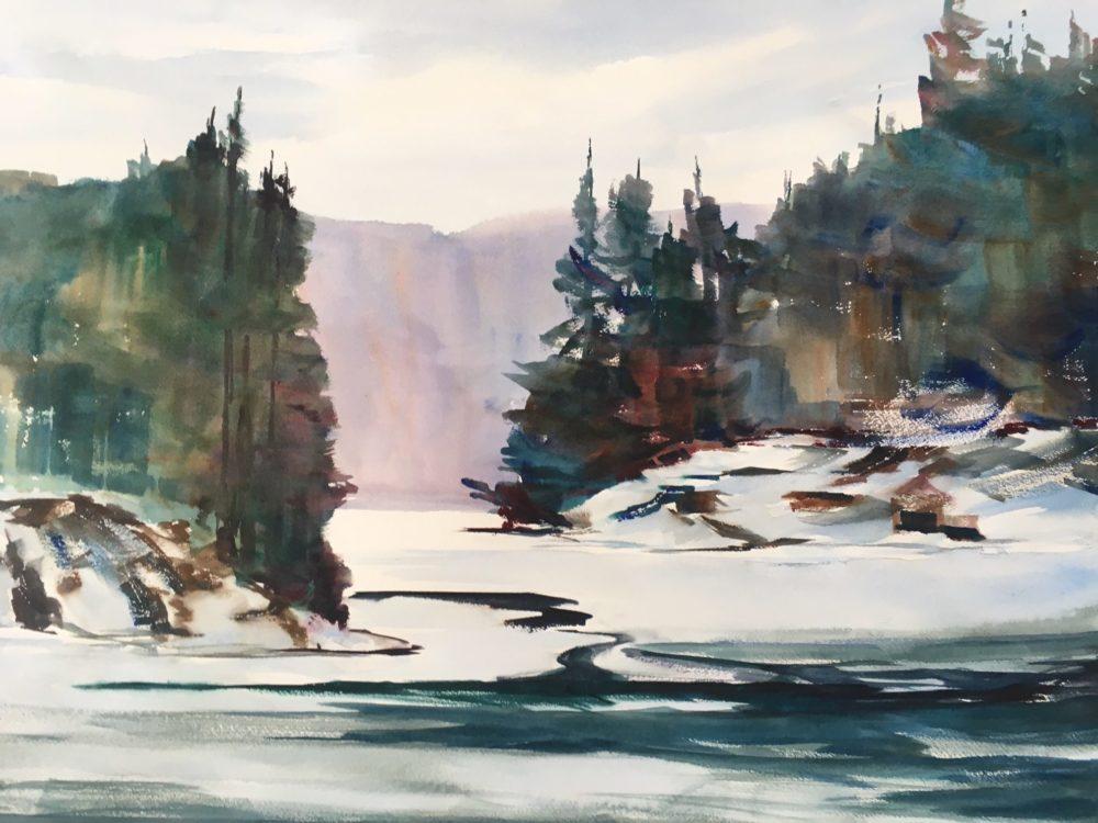 Early Snowfall, Tea Lake - Marilyn Gargarella