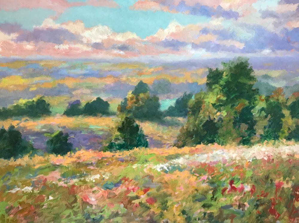 Misty Fields and Flowers - Douglas Edwards