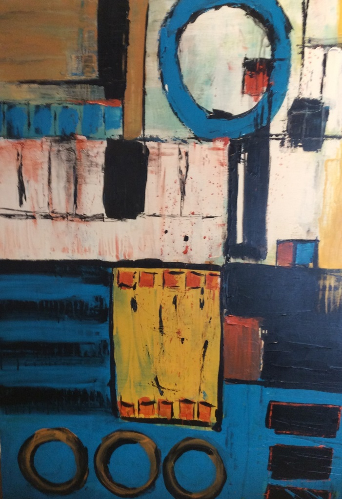 Blue Open Circle - Lynda Jones