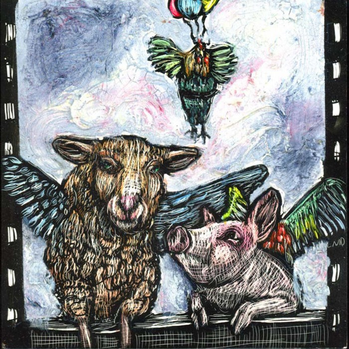 When Sheep, Pig and Rooster Fly Together - Lisa Martini-Duck