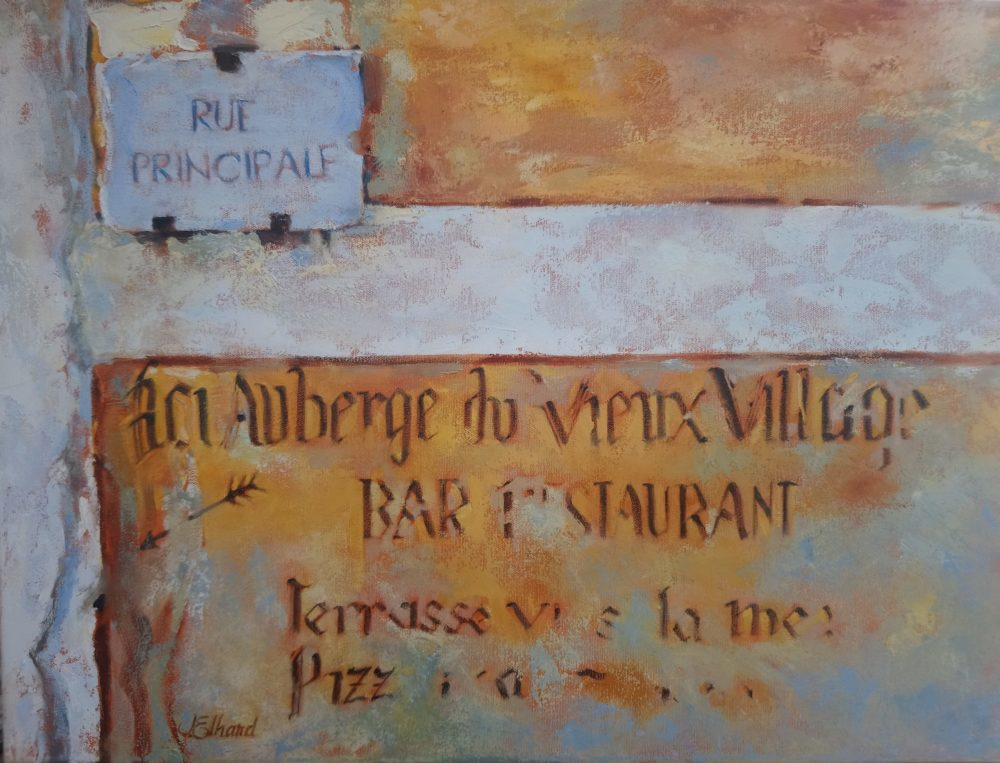 Old French Wall - Joyce Elhard