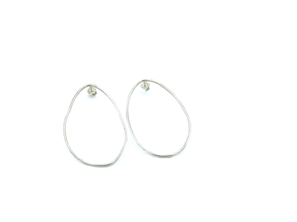 Smooth egg hoop earrings