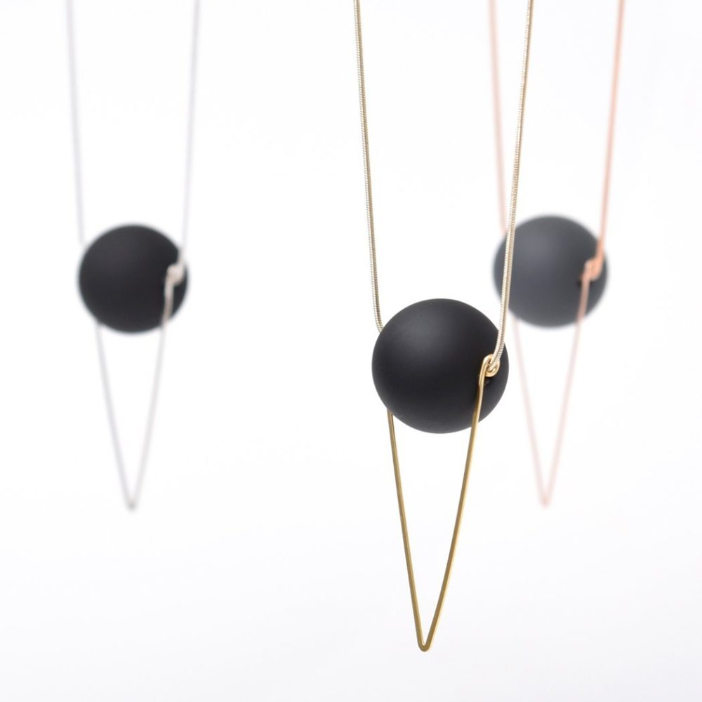 chevron and orb necklace